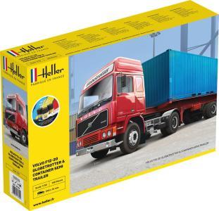 F12-20 Globetrotter & Container semi trailer - Starter Kit · HE 57702 ·  Heller · 1:32