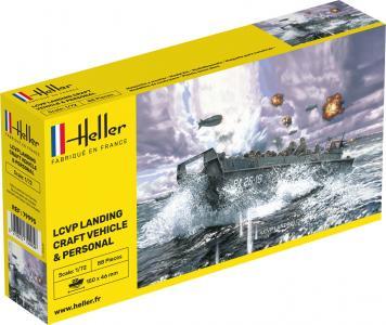 LCVP Landungsboot mit Besatzung · HE 79995 ·  Heller · 1:72