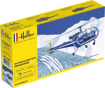 Aerospatiale SA 316 Alouette III Gendarmerie · HE 80286 ·  Heller · 1:72