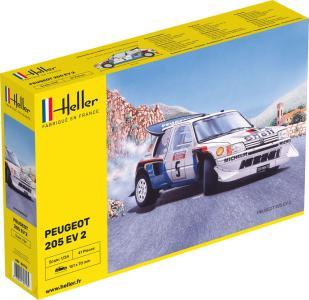 Peugeot 205 EV 2 · HE 80716 ·  Heller · 1:24