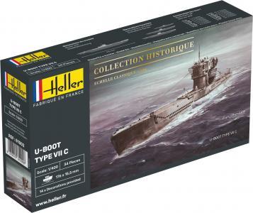 U-Boot Type VII C · HE 81002 ·  Heller · 1:400