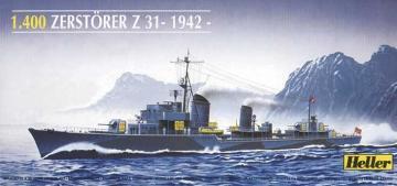 Zerstörer Z 31 · HE 81010 ·  Heller · 1:400