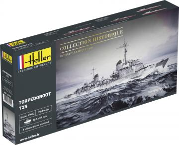 Torpedoboot T23 · HE 81011 ·  Heller · 1:400