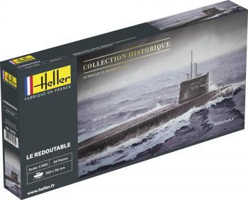 U-Boot S/M Redoutable · HE 81075 ·  Heller · 1:400