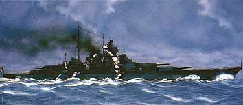 Schlachtschiff Bismarck · HE 81078 ·  Heller · 1:400