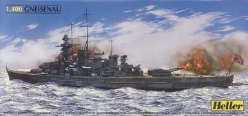 Schlachtschiff Gneisenau · HE 81080 ·  Heller · 1:400