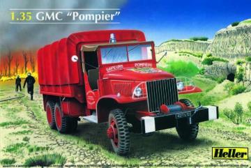 GMC Feuerwehr LKW · HE 81119 ·  Heller · 1:35