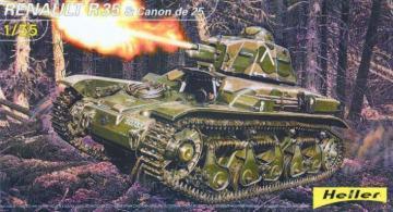 Renault R35 und 25mm Kanone · HE 81133 ·  Heller · 1:35