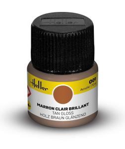 009 - Holz Braun glänzend [12 ml] · HE 9009 ·  Heller