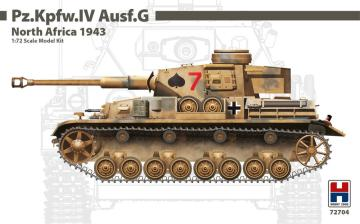 Pz.Kpfw.IV Ausf.G North Africa 1943 · HB2 72704 ·  Hobby 2000 · 1:72