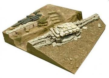 U.S. V.N. War Machine Gun Bunker Base (III) · HF 044 ·  Hobby Fan · 1:35