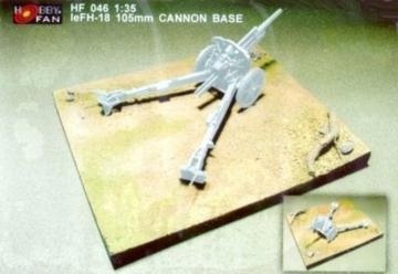 LeFH-18 105mm Cannon Base · HF 046 ·  Hobby Fan · 1:35