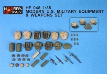 Modern U.S. Milit. Equip. & Weapons Set · HF 048 ·  Hobby Fan · 1:35