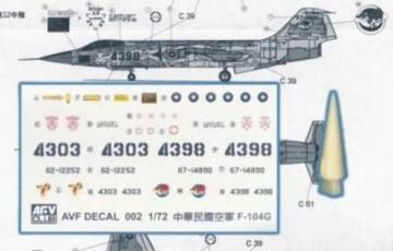 Conversion Kit for RF104G LOROP · HF 052 ·  Hobby Fan · 1:72