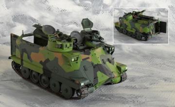 Swedish EPBV 3022 Commander vehicle · HF 068 ·  Hobby Fan · 1:35