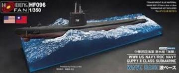 WW II Guppy II Class Submarine Wave Base for SE73513 · HF 096 ·  Hobby Fan · 1:350