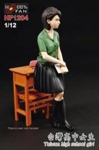 Taiwan high school girl - GK figure · HF 1204 ·  Hobby Fan · 1:12