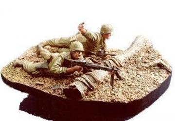 U.S. Marine gunner & grenadier with base · HF 517 ·  Hobby Fan · 1:35