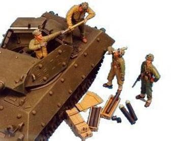U.S. M10/M18 Tank Crew-4 Fig.&Suppl.AMMO · HF 522 ·  Hobby Fan · 1:35