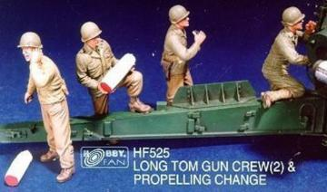 Long Tom Gun Crew(2) & Propelling Change · HF 525 ·  Hobby Fan · 1:35