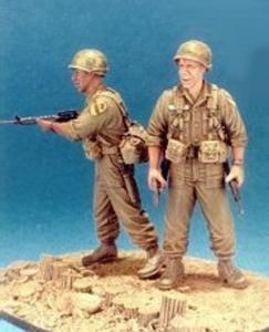First Cavalry 1965 LZ-Ray- 2 Fig. w/Base · HF 538 ·  Hobby Fan · 1:35