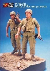 U.S. Marines Battle of Hue 1968(5)w/Base · HF 542 ·  Hobby Fan · 1:35