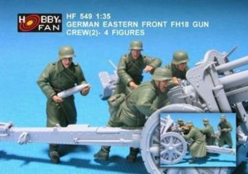 German eastern front FH18 gun crew(2)-4F · HF 549 ·  Hobby Fan · 1:35