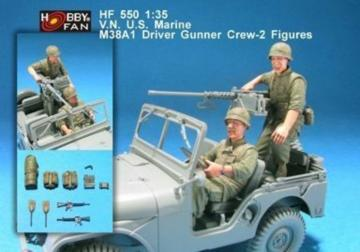 V.N U.S. Marine M38A1 driver gunner-2Fig · HF 550 ·  Hobby Fan · 1:35