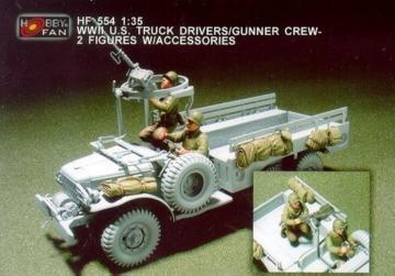 WWII U.S. Truck Drivers/Gunner crew/2fig · HF 554 ·  Hobby Fan · 1:35