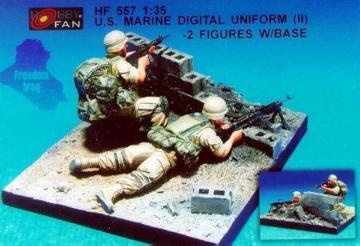 U.S. Marine Digital Unif.(II)- 2 Fig.w/B · HF 557 ·  Hobby Fan · 1:35