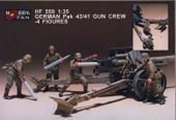 German Pak 43/41 Gun Crew- 4 Figures · HF 559 ·  Hobby Fan · 1:35