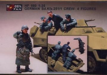 German Sd.Kfz.251/1 Crew- 4 Figures · HF 560 ·  Hobby Fan · 1:35