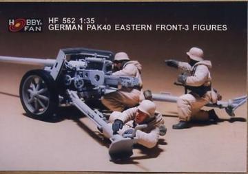 German Pak40 eastern front- 3 Figures · HF 562 ·  Hobby Fan · 1:35