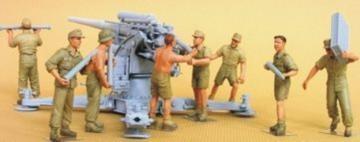 Flak 18 Crew set (Afrikakorps) 8 figures · HF 568 ·  Hobby Fan · 1:35