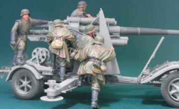 8.8cm Flak Crew set 3 eastern front 5Fig · HF 571 ·  Hobby Fan · 1:35