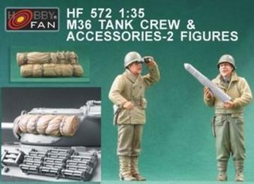 M36 Tank Crew & Accessories-2 Figures · HF 572 ·  Hobby Fan · 1:35