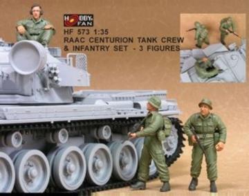 RAAC Centurion Tank Crew & Inf.set- 3Fig · HF 573 ·  Hobby Fan · 1:35