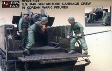 U.S. M40 Gun Motor Carri. in Kor.W./3Fig · HF 575 ·  Hobby Fan · 1:35