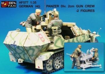 German HG Panzer Div.2cm Gun Crew- 2 Fig · HF 577 ·  Hobby Fan · 1:35