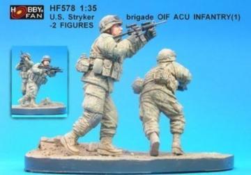 U.S. Stryker brigade(1) infantry- 2 Fig. · HF 578 ·  Hobby Fan · 1:35