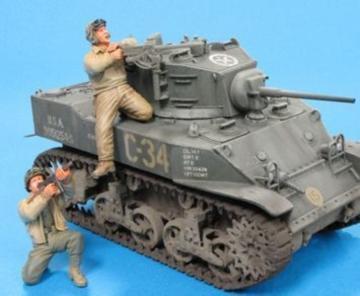 U.S. M5A1 Tank Crew & Sandbags- 2 Fig. · HF 582 ·  Hobby Fan · 1:35