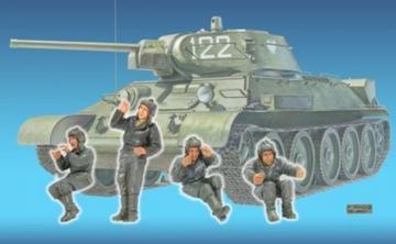 T-34 Tank Crew(1)- 4 Figures · HF 588 ·  Hobby Fan · 1:35