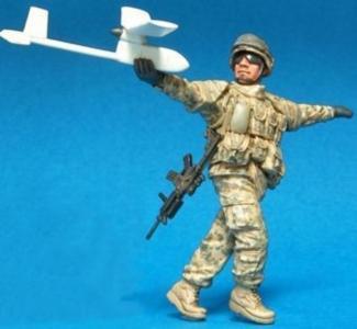 U.S. Stryker Brigade OIF ACU Crew(4)1Fig · HF 589 ·  Hobby Fan · 1:35