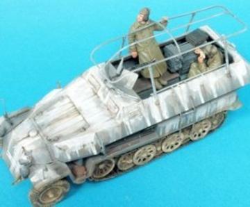Sd.Kfz. 251/3 Ausf.C Command. Veh./2 Fig · HF 593 ·  Hobby Fan · 1:35