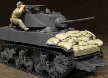 U.S. M5A1 Tank Crew & Sandbags(II)-1 Fig · HF 595 ·  Hobby Fan · 1:35