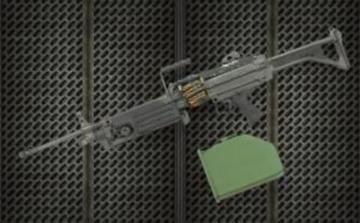 Resin arms U.S. M249 Minimi machine gun · HF 604 ·  Hobby Fan · 1:4