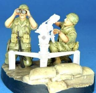 U.S. Army 105mm gun crew Vietnam war · HF 704 ·  Hobby Fan · 1:35