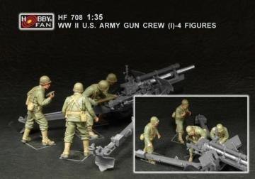 WWII U.S. Army gun crew (set 1 / 4 fig.) · HF 708 ·  Hobby Fan · 1:35