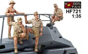 Sdkfz263 Afrikakorps Crew-4 Figures · HF 721 ·  Hobby Fan · 1:35