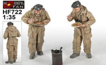 British Tank CrewMeals for victory 2 Figures · HF 722 ·  Hobby Fan · 1:35